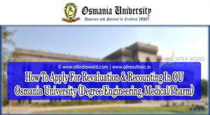 How To Apply For Revaluation & Recounting In OU - Osmania University