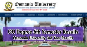 OU Degree 6th Semester Results 2020