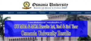 Osmania University MBA MCA Results 2019