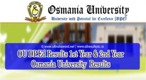 Osmania University DP.Ed Results 2021